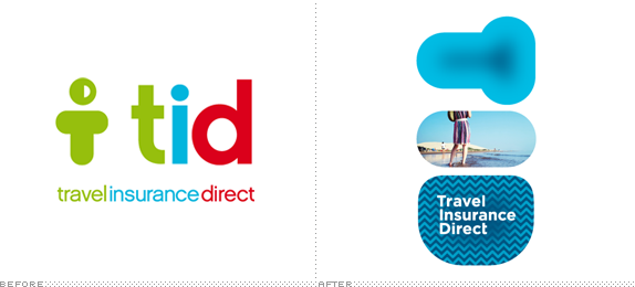 Travel Insurance Direct Logo, Before and After