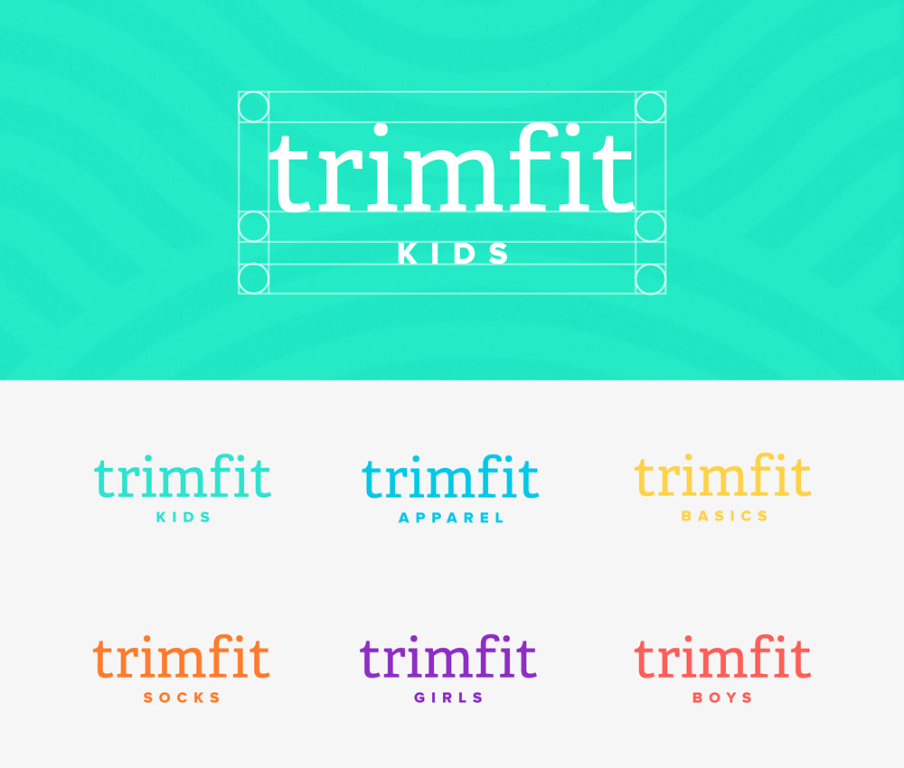 New Logo and Identity for Trimfit by Booth and Studio Scope