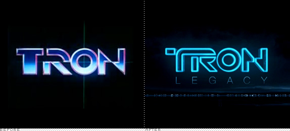 <em>Tron</em> Logo, Before and After