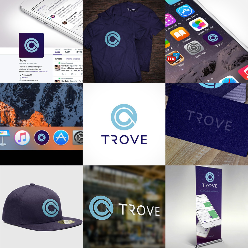 New Name, Logo, and Identity for Trove AI done In-house