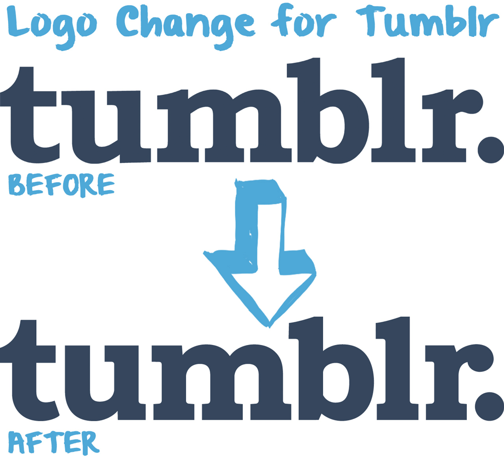 New Logo for Tumblr done In-house