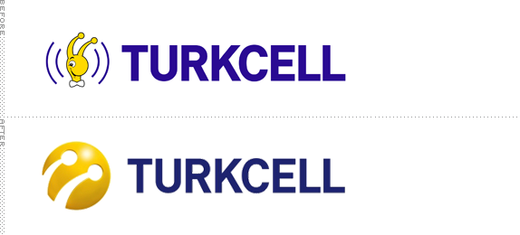 Turkcell Logo, Before and After