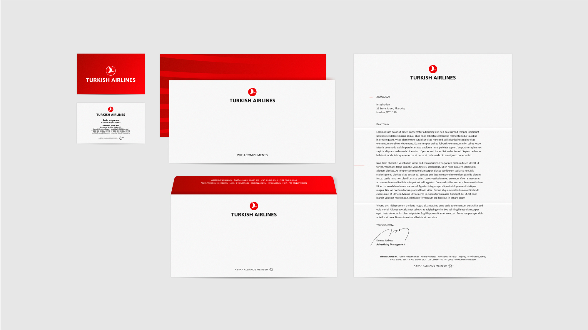New Logo and Identity for Turkish Airlines by Imagination