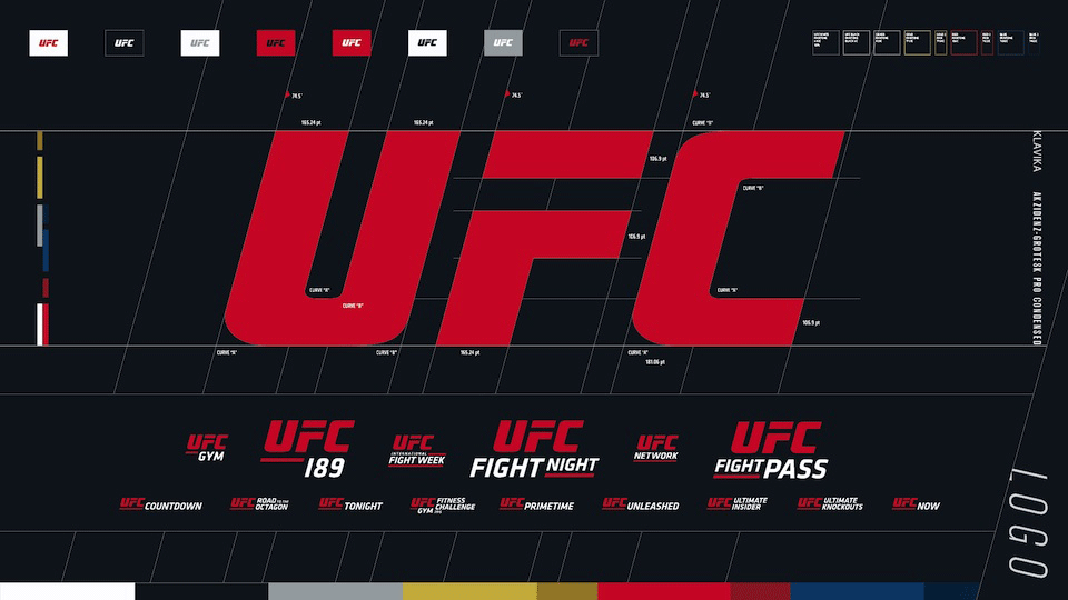 brand new new logo identity and onair look for ufc by