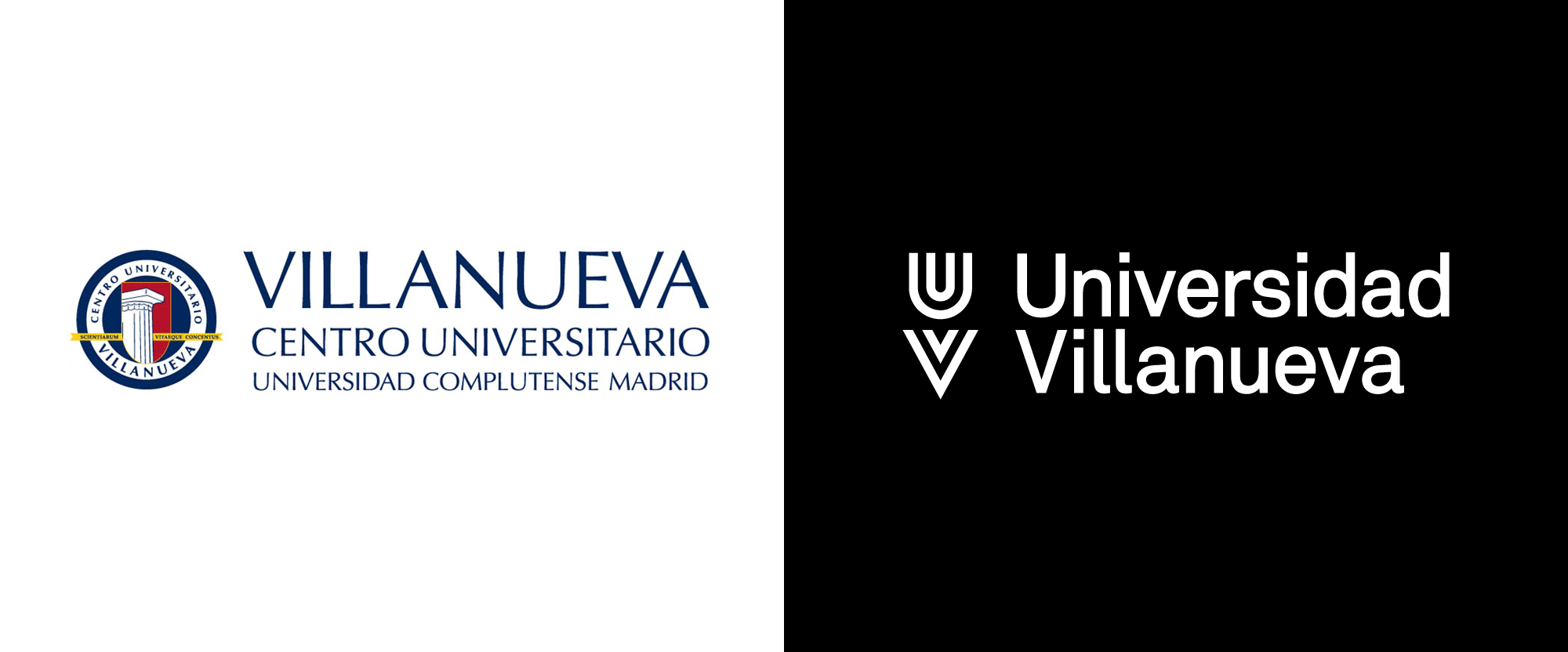 New Logo and Identity for Universidad Villanueva by KNOM