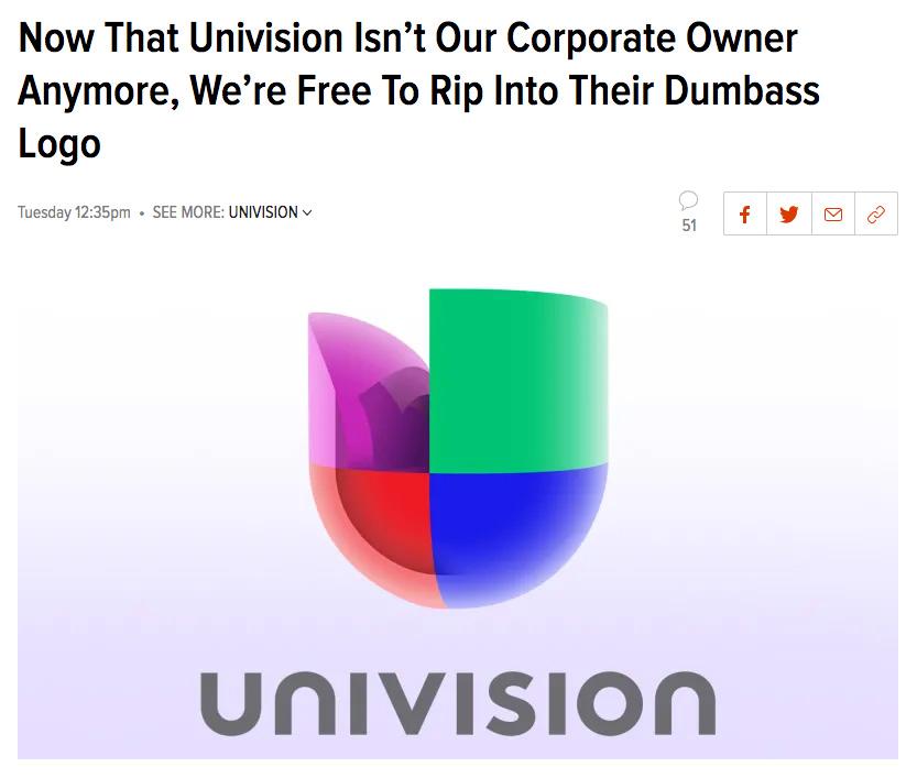 Univision Logo Roast