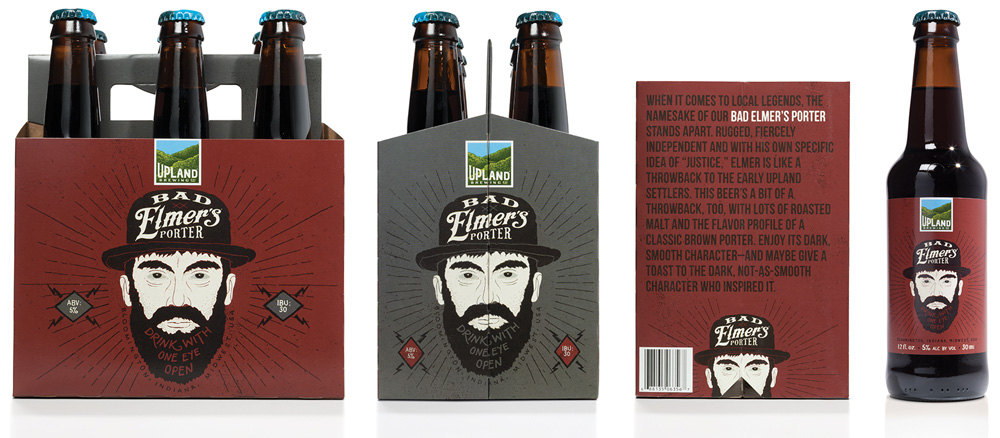 New Logo and Packaging for Upland Brewing Co. by Young & Laramore