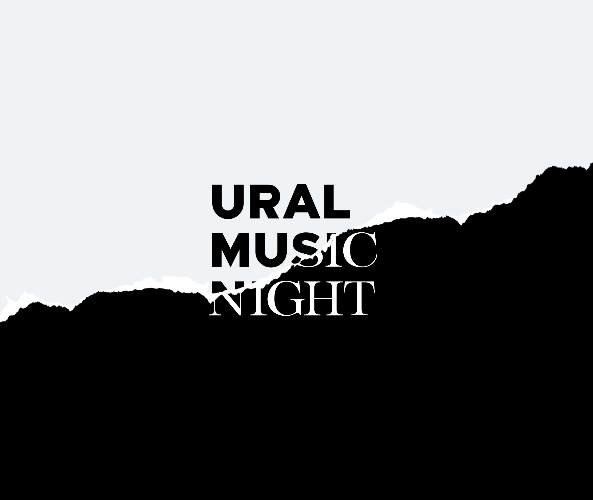 New Logo and Identity for Ural Music Night by Voskhod