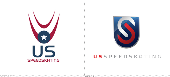 US Speedskating Logo, Before and After