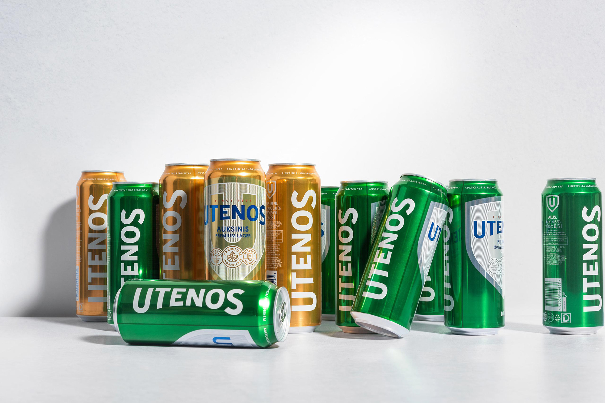 New Logo and Packaging for Utenos Alus by étiquette