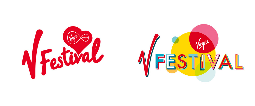 New Logo and Identity for V Festival by Form