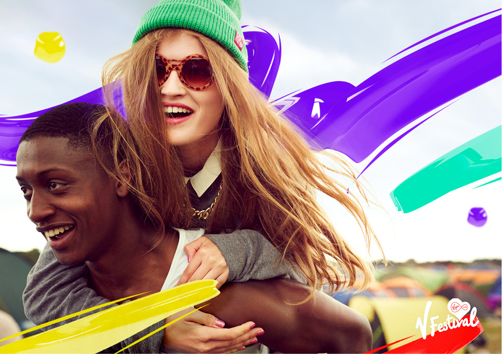 New Logo and Identity for V Festival by Saffron