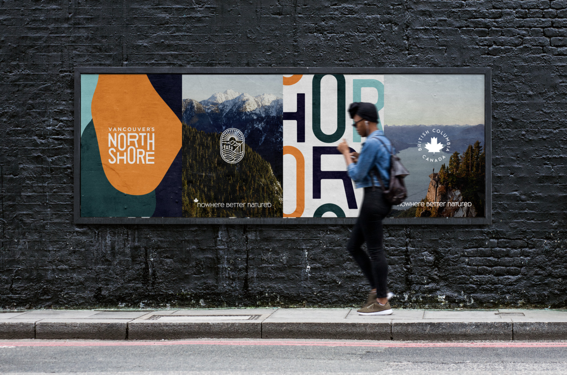 Logo và bản sắc mới cho Bờ Bắc của Vancouver bởi LOKI