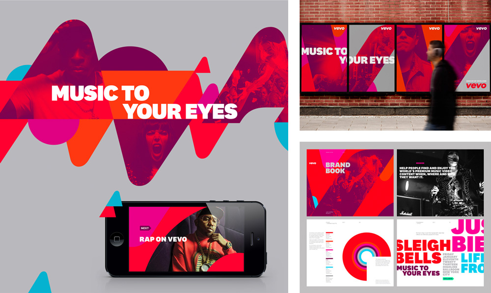 New Logo and Identity for Vevo by Violet Office