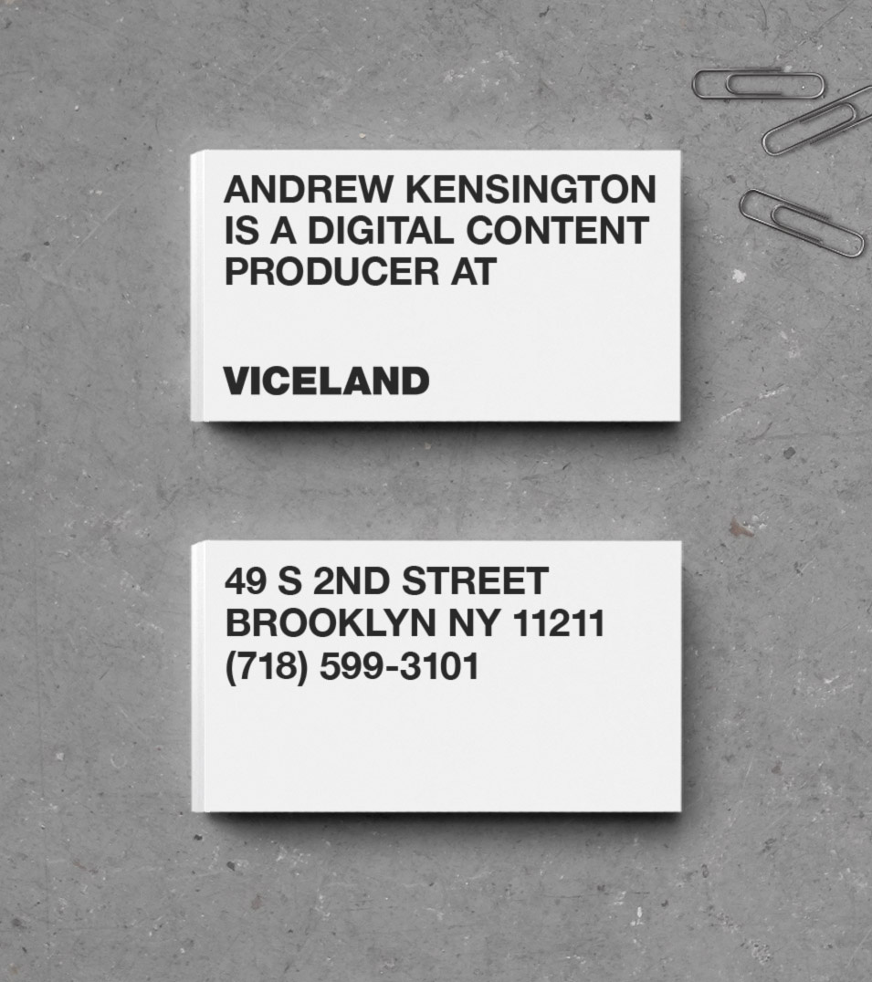 Brand New: New Logo, Identity, and On-Air Package for Viceland by Gretel