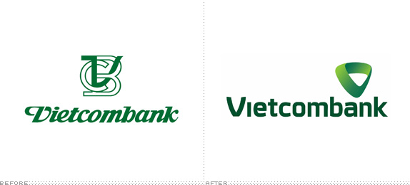 Vietcombank Logo, Before and After