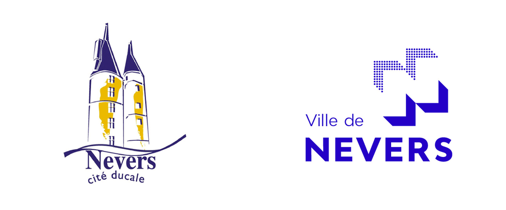 New Logo and Identity for Ville de Nevers by Graphéine