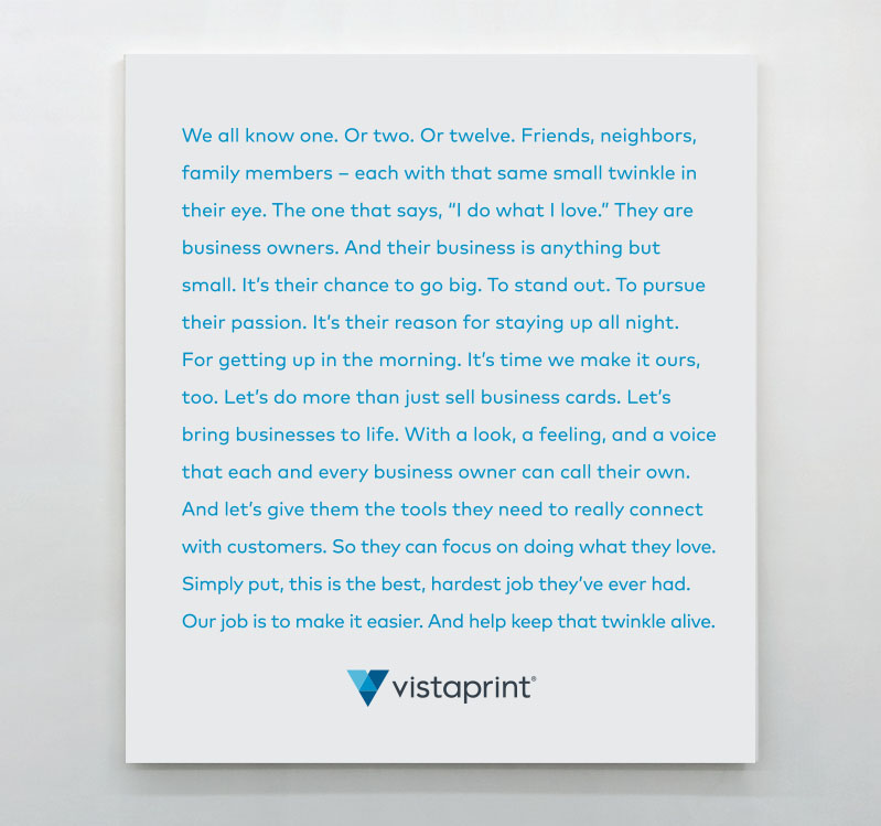 New Logo and Identity for Vistaprint by Tank Design and In-house