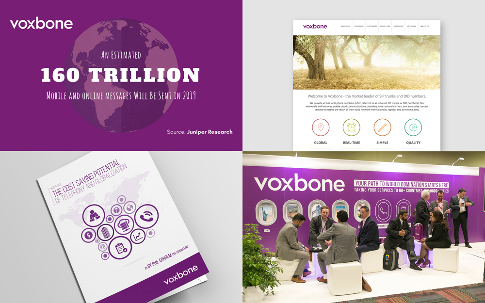 New Logo and Identity for Voxbone by Onwards