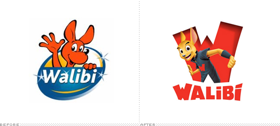 Walibi Logo, Before and After