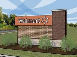 Walmart Signage Rendering