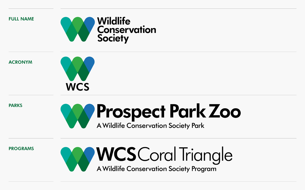 brand new new logo and identity for wildlife conservation society