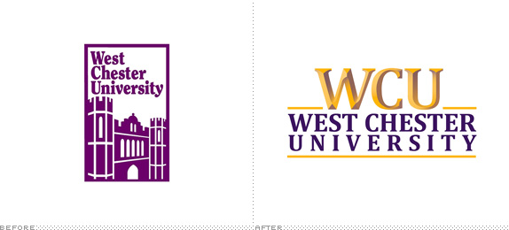 West Chester University Logo, Before and After