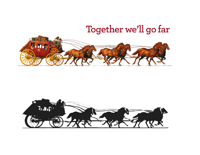 New Logo and Stagecoach for Wells Fargo
