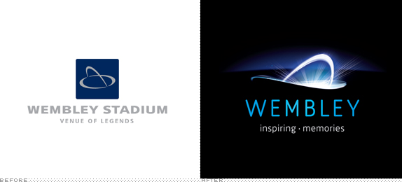 Wembley Stadium Logo, Before and After