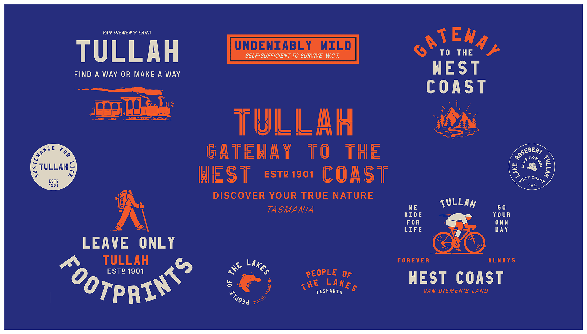 New Logo and Identity for Tasmania's West Coast by For the People