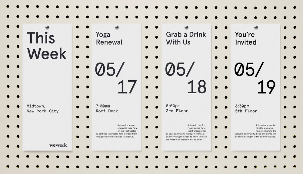 New Identity for WeWork by Gretel