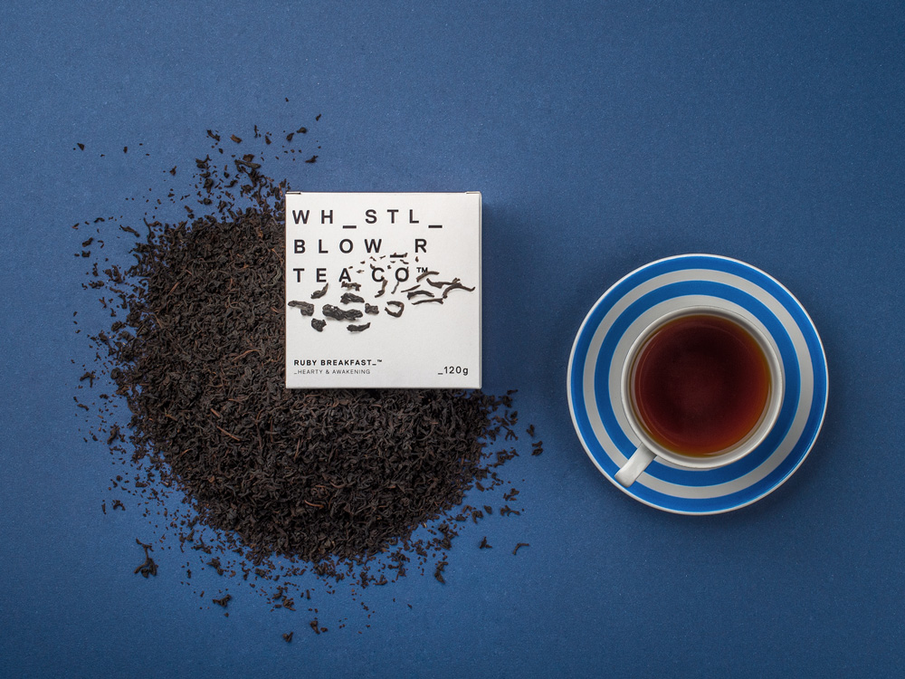 New Logo and Packaging for Whistle Blower Tea Co. by Black Squid Design