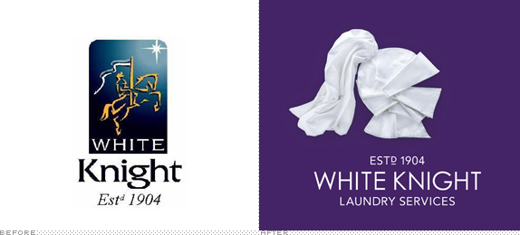 White Knight Logo, Before and After