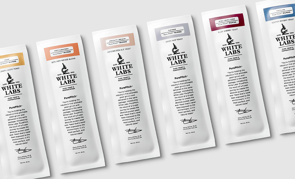 New Logo and Packaging for White Labs by MiresBall