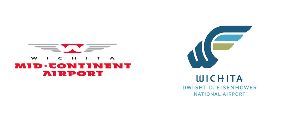 New Logo for Wichita Dwight D. Eisenhower National Airport by Sullivan Higdon & Sink