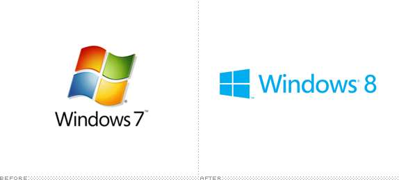Windows Logo, Before and After