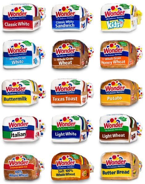Wonder bread packaging new