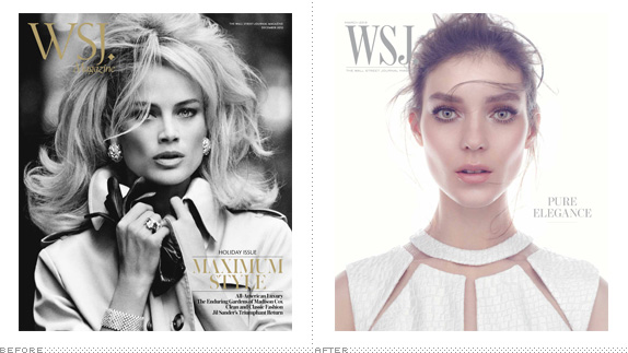WSJ Magazine Logo, Before and After
