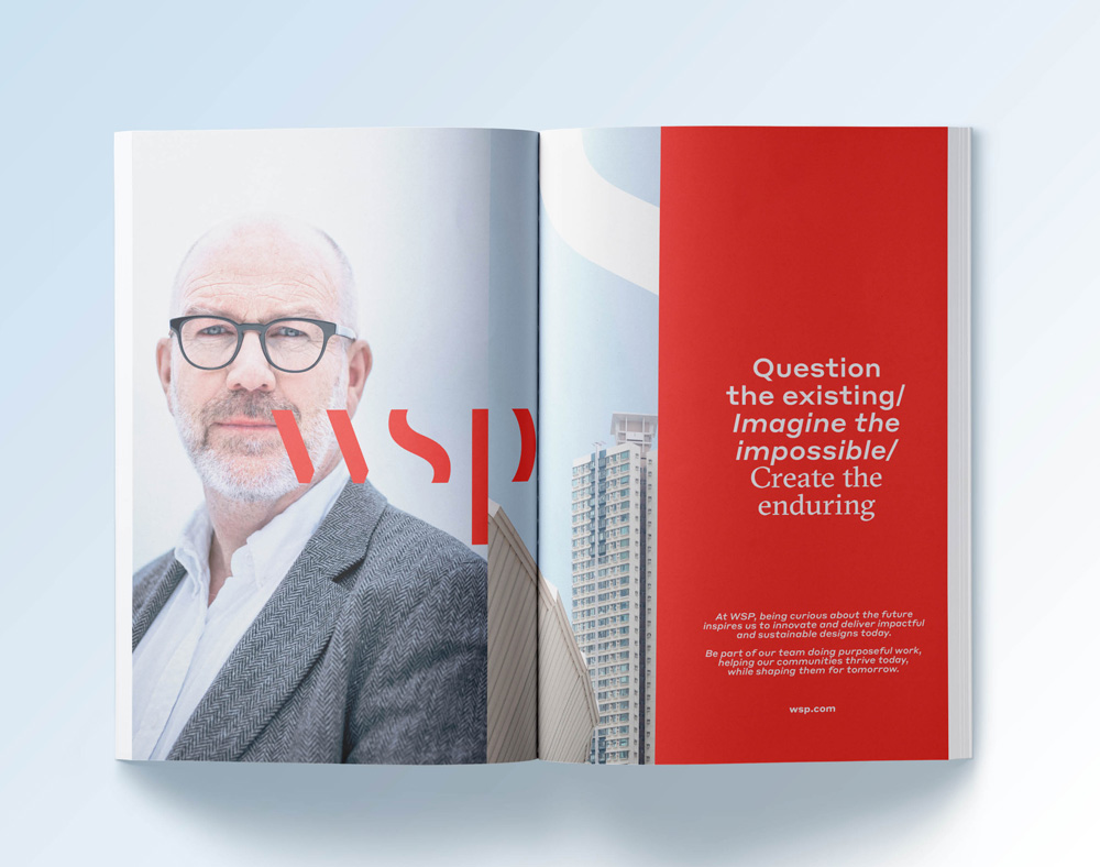 New Logo and Identity for WSP by Sid Lee