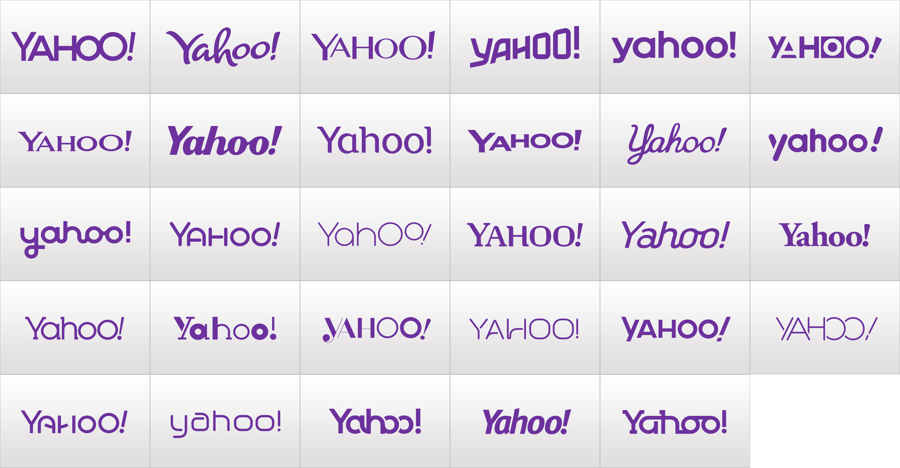 Brand New  New Logo for Yahoo Designed In House UnderConsideration