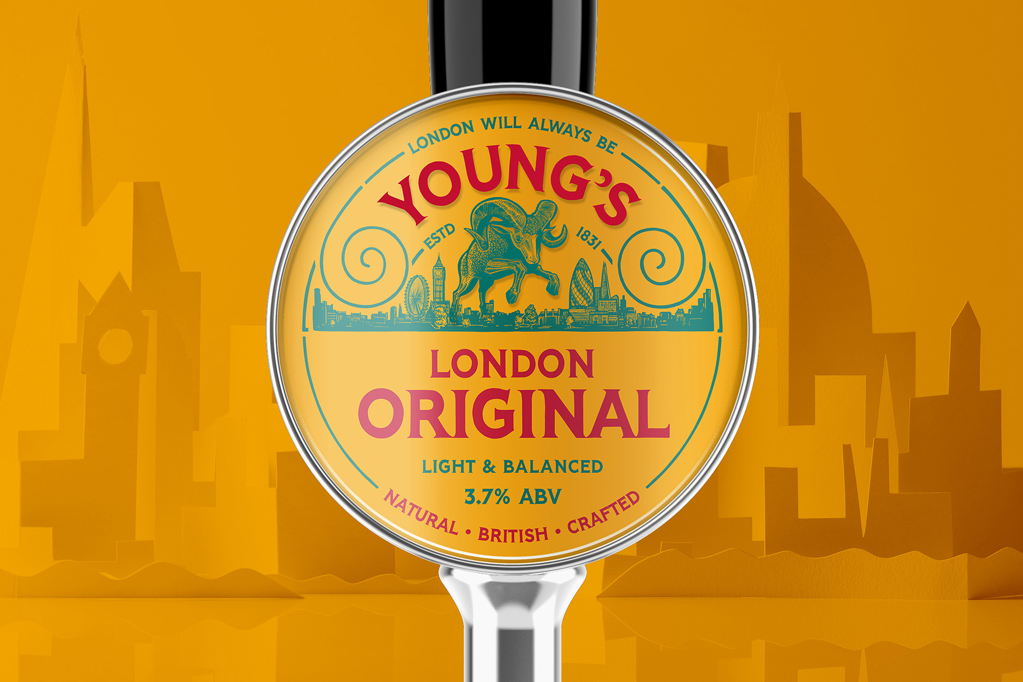 New Logo and Packaging for Young's by Kingdom & Sparrow