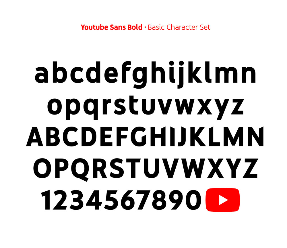 New Type Family and Refined Play Icon for YouTube by Saffron