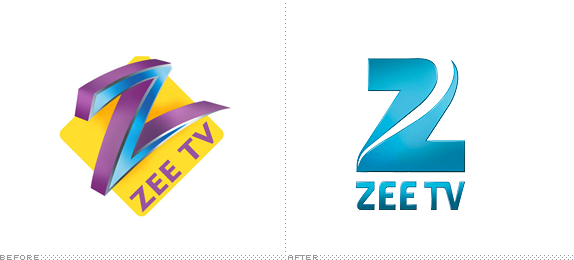 Zee TV Logo, Before and After