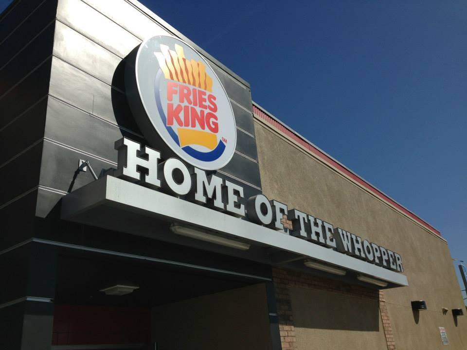 Burger King renamed Fries King