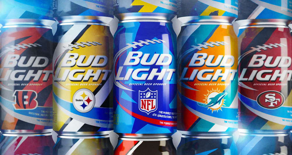 Bud Light NFL Team Cans
