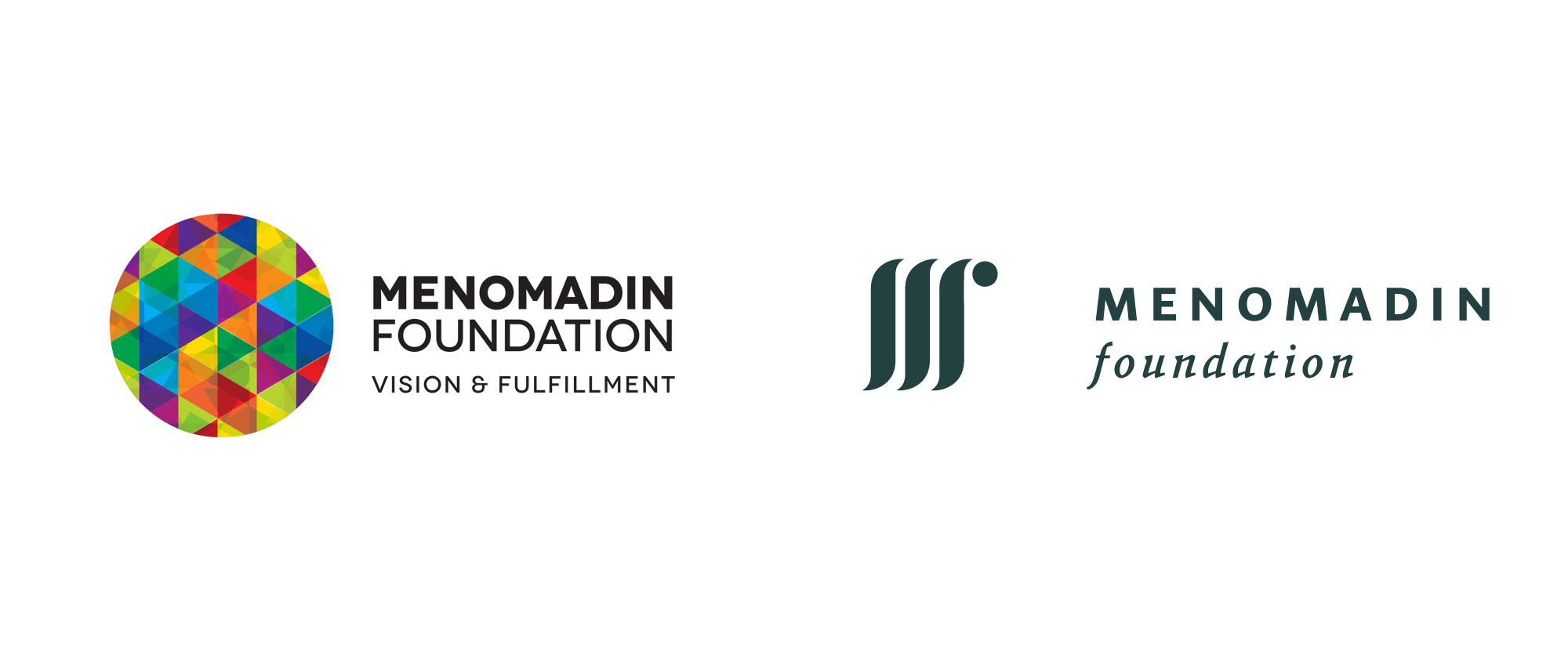 New Logo and Identity for Menomadin Foundation by Designit