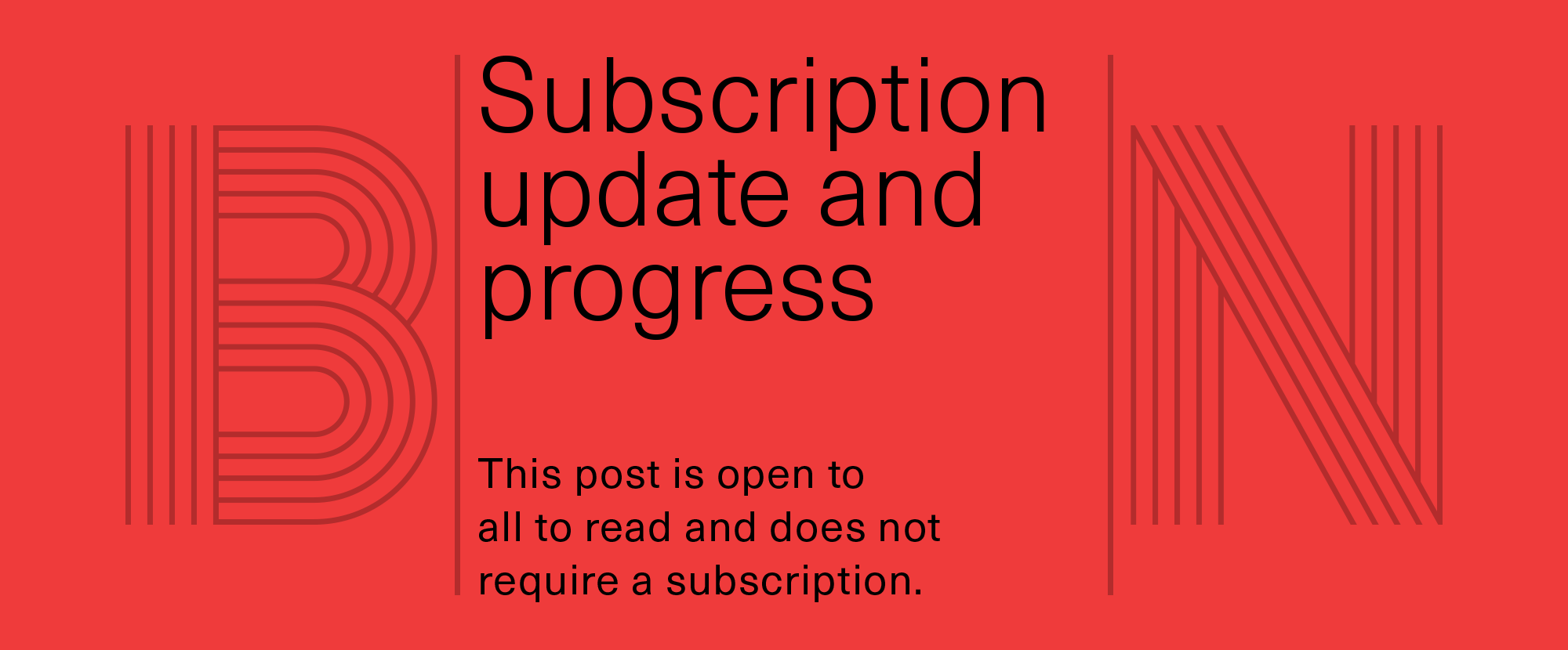 Subscription Model Progress and Update