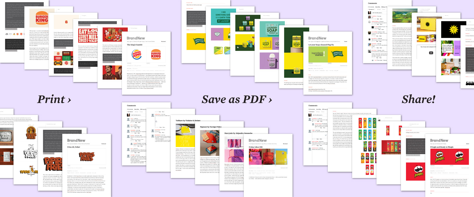 Share Posts as PDFs