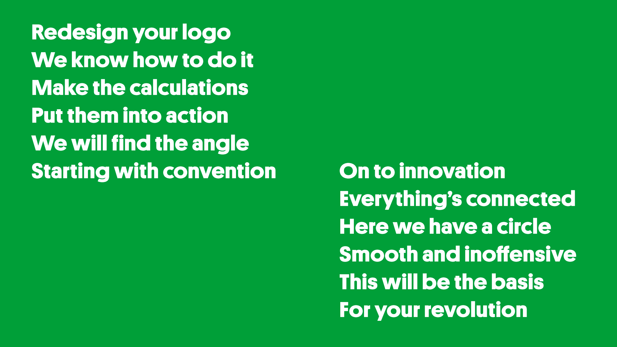 """Redesign Your Logo"" Lyrics"