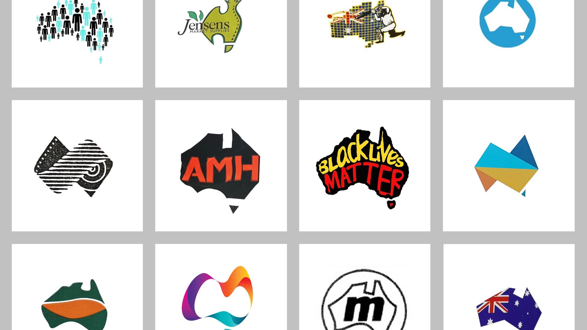 Australia-shaped Logos